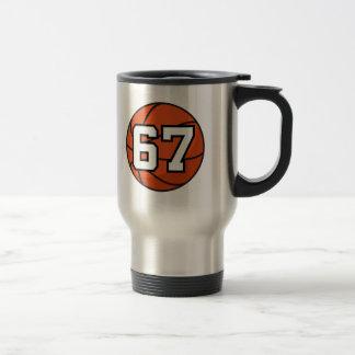 Basketball Player Uniform Number 67 Gift Idea Travel Mug