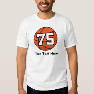 Basketball Player Uniform Number 75 Gift Idea T Shirt