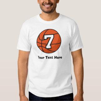 Basketball Player Uniform Number 7 Gift Idea Tee Shirt