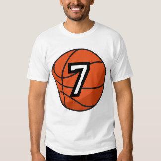 Basketball Player Uniform Number 7 Gift T-shirt