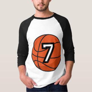 Basketball Player Uniform Number 7 Gift Tee Shirt