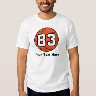 Basketball Player Uniform Number 83 Gift Idea Tee Shirt
