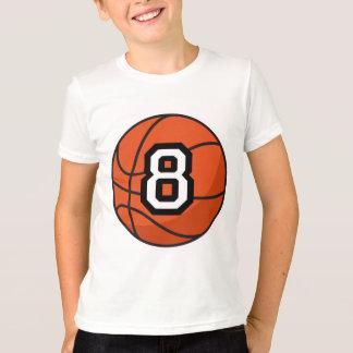 Basketball Player Uniform Number 8 Gift T-Shirt