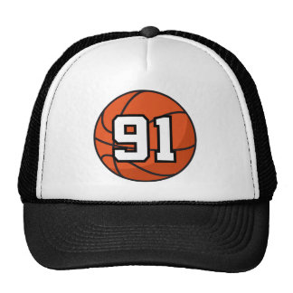 Basketball Player Uniform Number 91 Gift Idea Hats