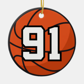 Basketball Player Uniform Number 91 Gift Idea Ornaments