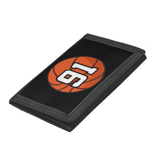 Basketball Player Uniform Number 91 Gift Idea Trifold Wallet