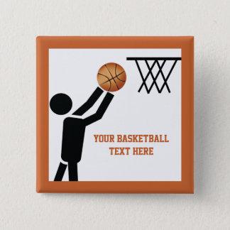 Basketball player with ball custom button