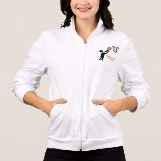 Basketball player with ball custom jacket