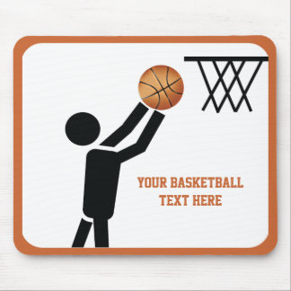 Basketball player with ball custom mouse pad