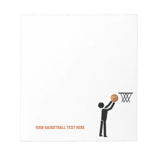 Basketball player with ball custom memo note pads