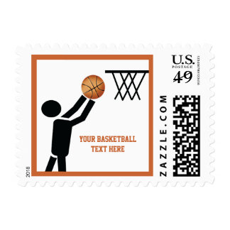 Basketball player with ball custom postage