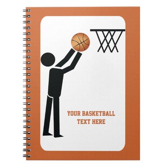 Basketball player with ball custom spiral notebook