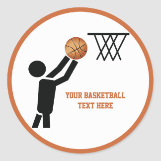 Basketball player with ball custom stickers