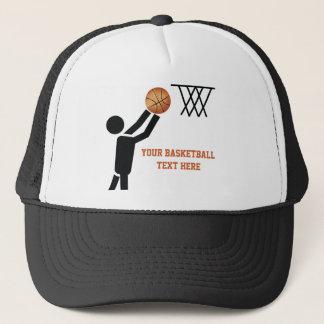 Basketball player with ball custom trucker hat