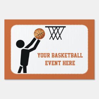 Basketball player with ball custom yard sign