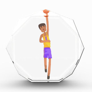 Basketball Player With The Ball Action Sticker Award
