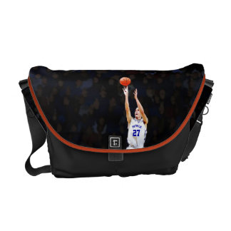 Basketball Player With Your Blue Name And Number Courier Bag