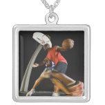 Basketball players 2 custom necklace