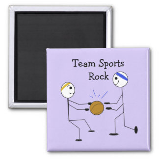 Basketball Players 2 Inch Square Magnet