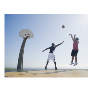 Basketball players 3 postcard