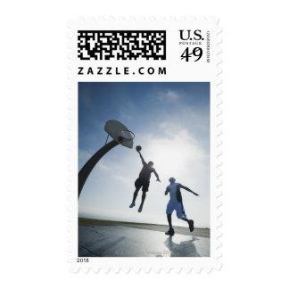 Basketball players 5 stamps