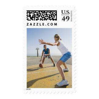 Basketball players 6 stamp