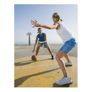 Basketball players 6 postcard