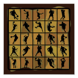 Basketball Players Abstract Posters