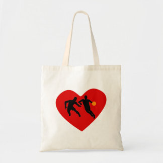 Basketball Players Heart Canvas Bags