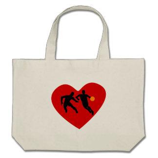 Basketball Players Heart Tote Bag