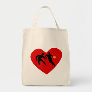 Basketball Players Heart Bag