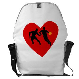 Basketball Players Heart Messenger Bag