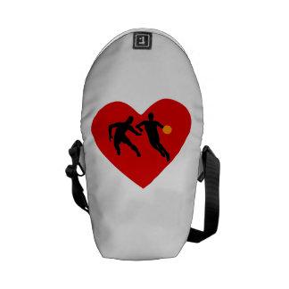 Basketball Players Heart Messenger Bags