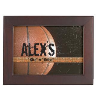 Basketball Player's Personalized Custom Memory Box