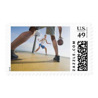 Basketball players postage stamp
