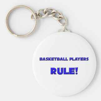 Basketball Players Rule! Basic Round Button Keychain