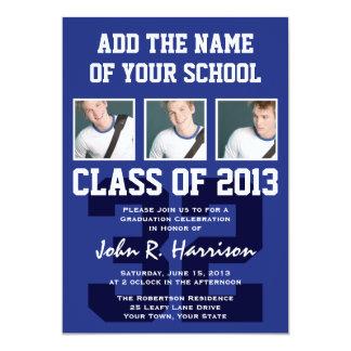 Basketball Player's Sports Graduation Shirt Number 5x7 Paper Invitation Card