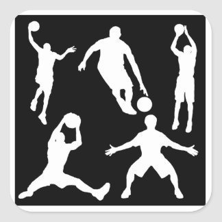 Basketball Players Square Sticker