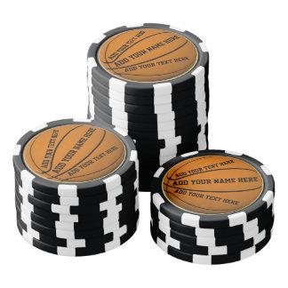 Basketball Poker Chips Set