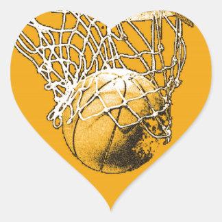 Basketball Pop Art Heart Sticker