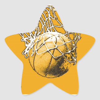 Basketball Pop Art Star Sticker