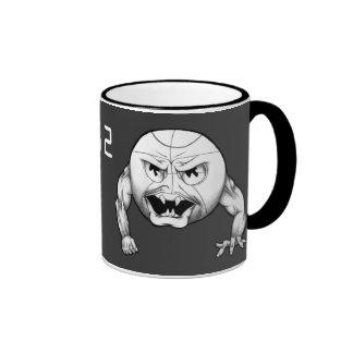 Basketball Possessed Ringer Coffee Mug