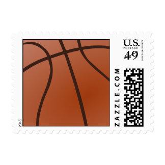 basketball. postage stamp