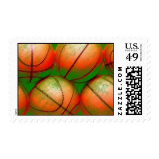 Basketball Postage Stamps