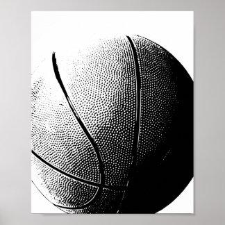Basketball Poster Black White Sports Print