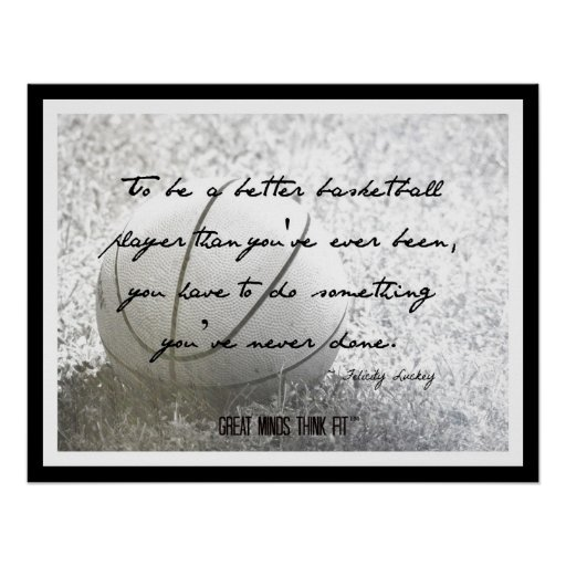 Basketball Poster with Quote