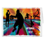 Basketball Pre Game Warmup - Customize Greeting Card