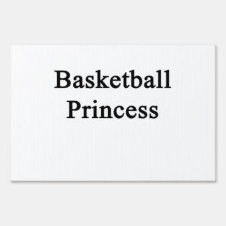 Basketball Princess Lawn Sign
