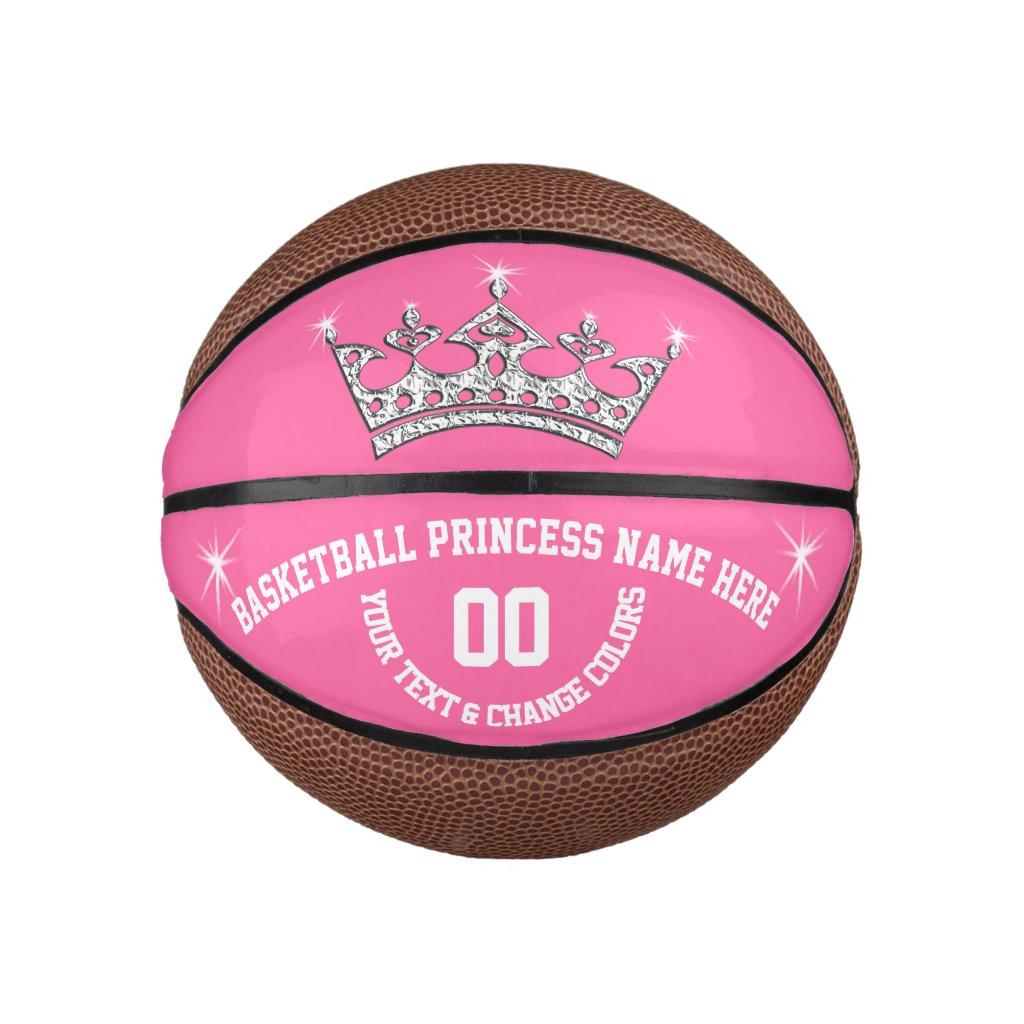 Basketball Princess Personalized Basketball Ball
