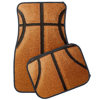 Basketball Print Pattern Background Car Floor Mat